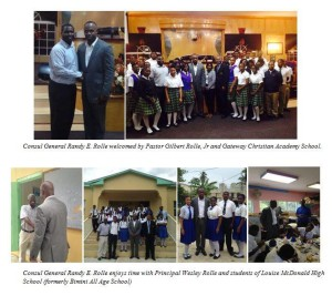 Concul General Randy Rolle Returns Home to Inspire Youth